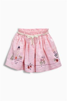 Pink Character Embellished Skirt (3mths-6yrs)
