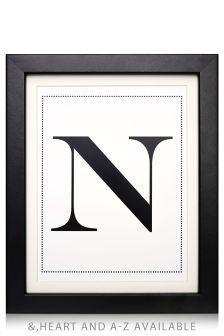 Frame Alphabet Print