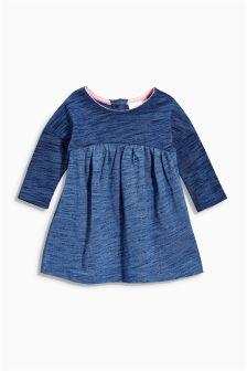 Indigo Stripe Jersey Dress