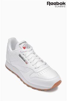 White Reebok Gum CLS