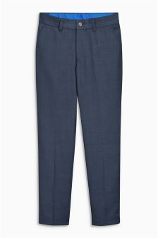 Navy Check Trousers (12mths-16yrs)
