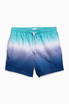 Dip Dye Print Swim Shorts