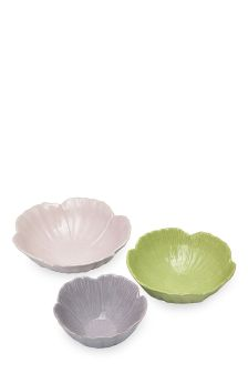 Set Of 3 Flower Nesting Bowls