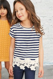 Lace Hem Top (3-16yrs)