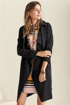 Black Duster Trench Coat
