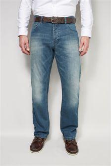 Teal Blue Wash Jeans
