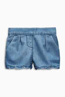 Denim Scallop Shorts (3mths-6yrs)
