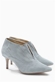 Suede Pointed Shoe Boots