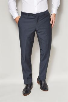 Navy Puppytooth Skinny Fit Suit: Trousers