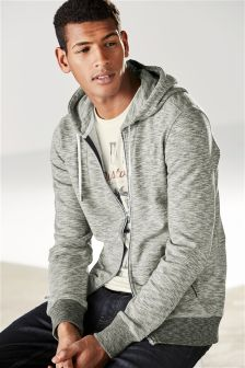 Grey Zip Through Hoody
