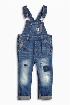 Denim Washed Dungarees (3mths-6yrs)