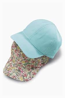 Floral/Mint Caps Two Pack (Younger Girls)