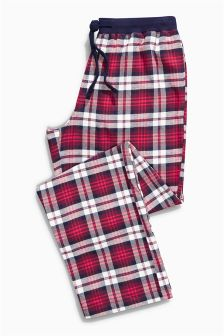 Red/White Check Woven Bottoms