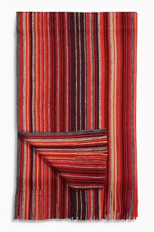 Red Stripe Scarf