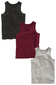 Plum/Grey Vest Three Pack (1.5-16yrs)