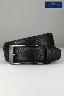 Black Signature Italian Leather Belt