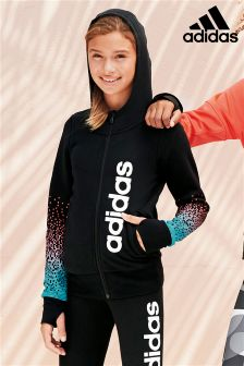 Black Adidas Fade Print Full Zip Hoody
