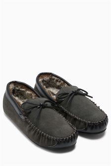 Grey Luxury Lace Moccasin