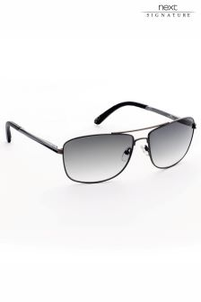Gunmetal Next Signature Sunglasses