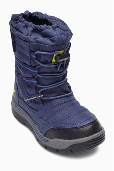 Navy Snow Boots (Younger Boys)