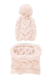 Sparkle Chunky Snood And Hat Two Piece Set (Older Girls)