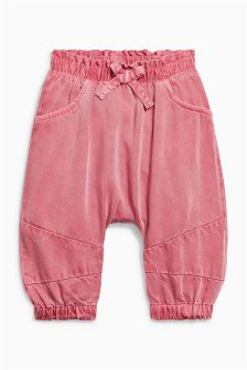Pink Slouch Trousers (0mths-2yrs)