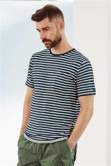 Indigo Stripe Pocket T-Shirt
