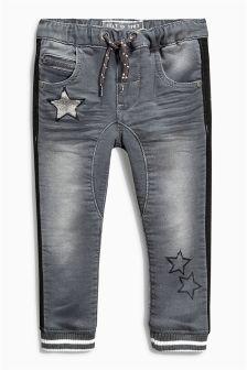 Grey H Star Side Stripe Jeans (3mths-6yrs)