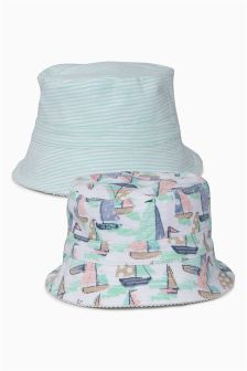 Multi Fisherman's Hats Two Pack (0mths-2yrs)