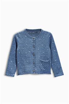 Blue Butterfly Cardigan (3mhts-6yrs)
