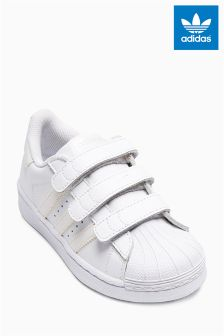 White adidas Originals Superstar