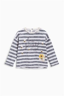 Blue Striped 'Bee Yourself' Tee (3mths-6yrs)
