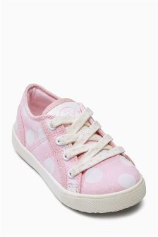 Lace Up Low Tops (Younger Girls)