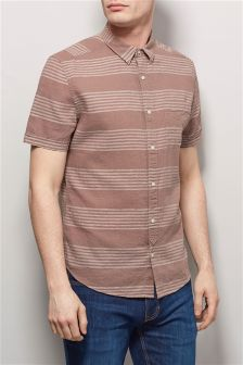 Pink Stripe Short Sleeve Shirt