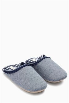 Fold Back Mule Slippers
