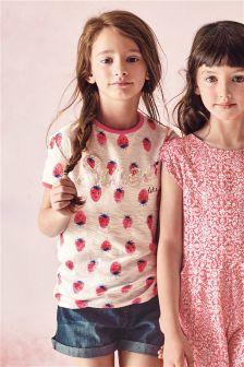 Multi Strawberry Sweet T-Shirt (3-16yrs)