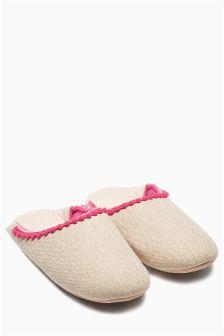 Fold Back Mule Slippers