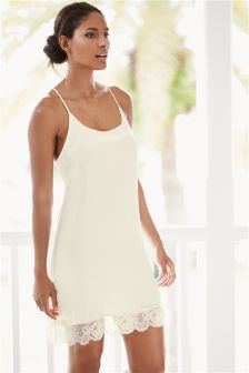 Ivory Luxury Silk Slip