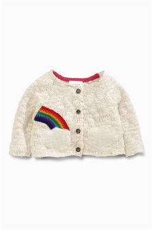 Ecru Rainbow Cardigan (0mths-2yrs)
