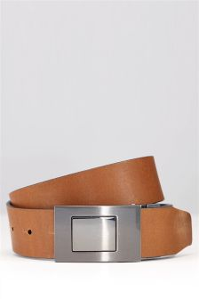 Black And Tan Reversible Leather Belt