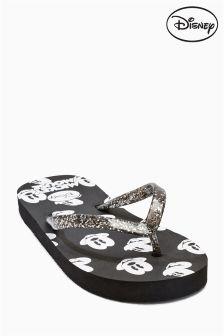 Black Mickey Mouse™ Flip Flops (Older Girls)