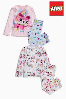 Pink And Cream Lego™ Unicorn Pyjamas Two Pack (4-10yrs)