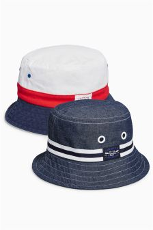Blue/White Capri Fisherman's Hats Two Pack (Older Boys)