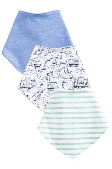 Blue Boat Dribble Bibs Three Pack