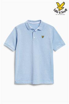 Blue Marl Lyle & Scott Classic Polo