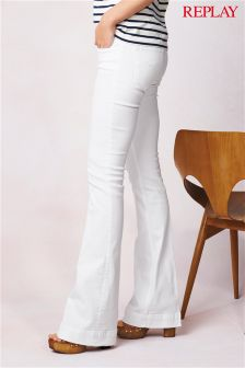 White Replay® Teena Flared Jean