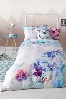 Photographic Floral Print Bed Set