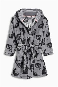 Grey Rabbit All-Over Print Robe (3-16yrs)