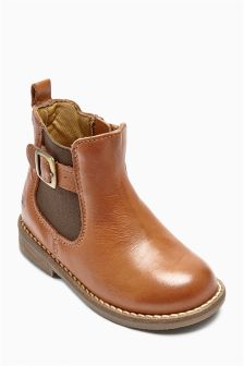 Tan Leather Chelsea Boots (Younger Girls)