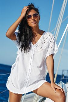 Cut Out Embroidered Kaftan